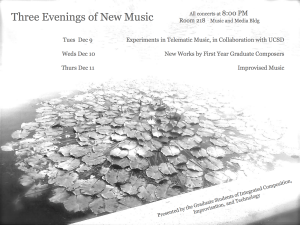 Fall Quarter 2014 ICIT Concerts Poster